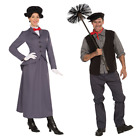 Mens Chimney Sweep Ladies Mary Nanny Poppins Fancy Dress Costume FAST+ FREE POST