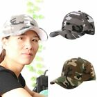 Hot Men Women Camouflage Half Mesh Army Baseball Cap Desert Jungle Snap Camo Hat