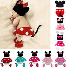 baby girl minnie mouse costume - Mickey Minnie Mouse Newborn Baby Girl Boy Crochet Knit Costume Photo Prop Outfit