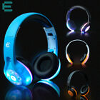 Stereo Wireless Bluetooth Headset Headphones with Mic Handfree LED Glowing NEW