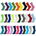 Mens Plain Coloured Mid Calf Ankle Crew Short Socks New Lot
