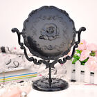 BLACK VANITY MAKE UP COSMETIC TABLE BATHROOM MIRROR ON FOOT STAND Anna Sui Style