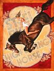 AC Steel Pier Horseby Mike Bell Atlantic City Rodeo Pin-Up Girl Canvas Art Print
