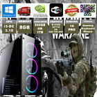 Fast Dual Core Gaming PC + Monitor Bundle 4GB RAM 500GB HDD Desktop Computer