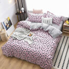 Leopard-print Pink Bedding Set Duvet Quilt Cover+Sheet+Pillow Case Four-Piece