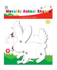 Kids Create White Card Animal Shapes Cut Outs Moveable Art Craft Fun Activity
