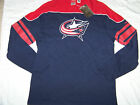 Reebok Men's NHL Shoot Out Columbus Blue Jackets Long Sleeve Shirt NWT $32.99 USD on eBay