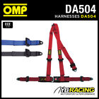 "DA504 OMP 'ROAD 3' HARNESS BELTS 2"" STRAPS 3-POINT BOLT-IN - RED / BLACK / BLUE"