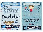 TO THE BESTEST DADDY FATHER'S DAY CARD 1ST P&P FATHERS DAY