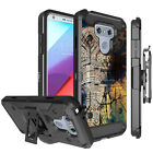 For [LG G6 / G6 Plus ] Hybrid Shock Heavy Duty Combo Holster Case Clip