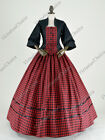 Victorian Dickens Christmas Caroler Prairie Pioneer Woman Theater Dress Gown 160