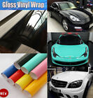 Auto High Glossy Gloss Vinyl Car Wrap Film Foil Sticker Decal Roll Bubble Free