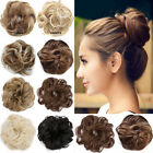 Real Thick As Human Pony Tail Hair Extensions Bun Hairpiece Scrunchie Curly lkk