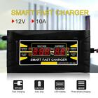 12V 10A Smart Fast Lead-acid Battery Charger LCD For Car Motorcycle EU/US Plug