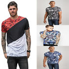 Juice Mens King Slim Fit Designer Crew Neck Short Sleeve T-Shirt Tee Top T Gym