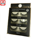 15 Pair Black Faux Mink Natural Cross Long Thick Eye Lashes False Eyelashes Best