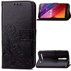 NEW Magnetic Wallet flowers PU leather stand cover case & strap #43
