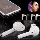Sport Stereo Bluetooth Headset + Clear Hard Case Cover for iPhone 7 8 Plus X