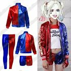 New Kids Harley Quinn Cosplay Suicide Squad Halloween Costume Leggings Jacket