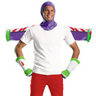 Buzz Lightyear Adult Costume Kit Toy Story 1 2 3 Mens Hood Gloves Jet Pack Wings