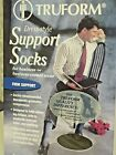 Truform Men's Knee High 15-25 mmHg Compression Dress Socks Small