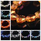 16mm Hexagon Glass Crystal Charms Faceted Spacer Loose Beads DIY Jewelry