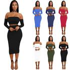 women club outfits - Women Backless Crop Top Set Bodycon Bandage Mini Dress Party Club Outfits B1F7