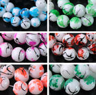 NEW 50pcs 8mm Round Glass Colorful Loose Spacer Beads Jewelry Findings DIY