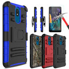 For LG Aristo 2/2 Plus/Tribute Dynasty Case With Kickstand Clip+Screen Protector