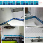 Home Decor Mosaic Tile Bathroom Kitchen Removable Wall Paper Pvc Sticker
