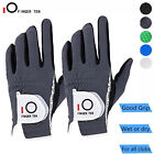 New Mens Golf Gloves Rain Wet Hot Weather Grip Left Right Hand Lh Rh Pack Black
