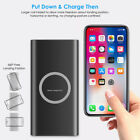 10000mAh Qi Wireless Power Bank & Fast Charging USB LED Portable Battery Charger