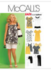 M5640 McCall's Sewing Pattern EASY Plus Dresses Tops Shorts Pants Capri 18W-32W
