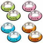 BEST New 11cm Diameter Stainless Steel Anti-skid Dog Cat Food Water Bowl Pet Fee
