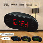 Digital LED Display Alarm Clock FM/AM Radio 24 Hours Snooze Desktop Timer Hot