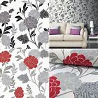 Flower Floral Rose Wallpaper Textured Glitter Sparkly Vinyl Carla Motif Arthouse