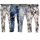 Womens Ladies Floral Print Trouser Italian Beach Summer Trousers Pant One Size