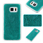 Mint Green powder Glued Shine sparkly Bling soft Plastic TPU  phone case