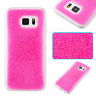 Light Pink Glitter powder Glued Shine sparkly Bling soft Plastic TPU  phone case