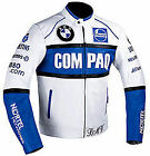 BMW Compaq Motorcycle Leather Jacket Sports Motorbike Leather Jacket Custom Size