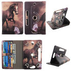 Folio Case For Universal 8 inch Tablet Cover Card Cash Slots Rotating Stand