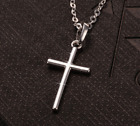 Gold Cross Pendant 925 Sterling Silver Chain Necklace Womens Jewellery Love Gift