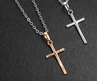 Gold Cross Pendant 925 Sterling Silver Necklace Womens Jewellery Valentine Gift