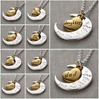 """Best Gifts For Family """"i Love You To The Moon And Back"""" Pendant Necklace New Hg"""