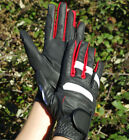 Rhinegold Pro Synthetic Stretch Adult Horse Riding Gloves Great design 2 Colours