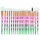 20 stck Pro Bunt Regenbogen Einhorn Unicorn Make Up Brush Set Diamant Pinsel günstig