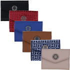 Tommy Hilfiger Womens Wallet Trifold Envelope Card Holder Monogram Clutch New