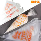 100 Thick Plastic Disposable Pastry Bag Icing Piping Cake Cupcake Decorating Bag