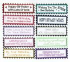 10 HAPPY BIRTHDAY Greeting Card Craft Scrapbook Sentiment Banners*Colour Options