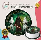 STAR WARS KYLO REN EDIBLE ROUND BIRTHDAY CAKE TOPPER DECORATION PERSONALISED